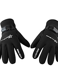 Недорогие -Спортивные перчатки Перчатки для велосипедистов Сохраняет тепло С защитой от ветра Полный палец Кожа Велосипедный спорт / Велоспорт Муж.