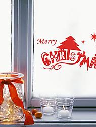 Natal Adesivos de Parede Árvores de Natal Autocolantes de Parede Decorativos,Fibra Material Decoração para casa Decalque