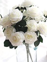 1 ブランチ シルク バラ テーブルトップフラワー 人工花