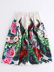 cheap -Women's Cotton A Line Skirts - Floral