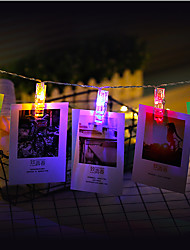 cheap -3M  Photo Clip Holder LED String lights For New Year Party Wedding Home Decoration Fairy lights Battery