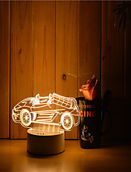cheap -1 Set Of 3D Mood Night Light Hand Feeling Dimmable USB Powered Gift Lamp Car