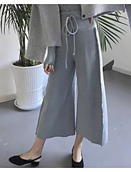 Women's High Rise Micro-elastic Wide Leg Pants Pants,Simple Wide Leg Pants Solid