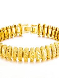 Недорогие -Муж. Браслет цельное кольцо Браслет разомкнутое кольцо азиатский Подарок Милый Мода Позолота Бижутерия Назначение Свадьба Повседневные