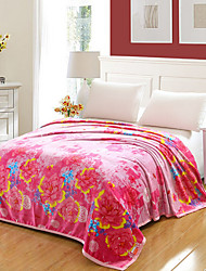 cheap -Super Soft,Yarn Dyed Floral/Botanical Polyester Blankets