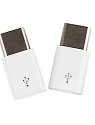 cheap -Usb Type-C Male To Micro Usb Female Connector (2 Pack)