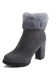 Для женщин Обувь Нубук Полиуретан Осень Зима Модная обувь Армейские ботинки Ботинки Ботинки Назначение Повседневные Черный Серый