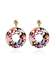 cheap -Women's Stud Earrings Drop Earrings Acrylic Metallic Acrylic Alloy Circle Jewelry For Gift Daily