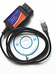 cheap -Lines Of Auto Fault Diagnosis Instrument Elm327 Obd2 Driving Computer Usb Cable