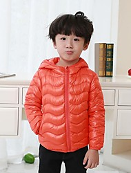 cheap -Boys' Solid Striped Down & Cotton Padded,Others Down Long Sleeves Vintage Cute Casual Orange