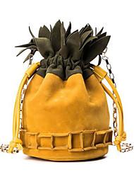 baratos -Mulheres Bolsas PU Bolsa de Ombro Bolsos Amarelo / Marron