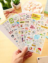 Недорогие -6 шт / набор мультфильм свинья дневник стикер телефон стикер записки наклейки