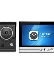cheap -Large Screen 9 Inch Color Recording Monitor Video Door Phone Intercom System with CMOS Outdoor Camera