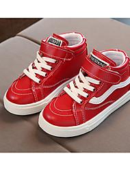 Мальчики обувь Искусственное волокно Весна Осень Удобная обувь Кеды Назначение Повседневные Белый Черный Красный