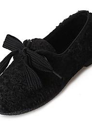chaussures pour femmes laine hiver confort mocassins&slip-ons null talon plat bout rond null / pour kaki casual marron clair noir