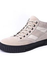 Homme Chaussures Gomme Automne Hiver Confort Basket Pour Noir Beige Gris