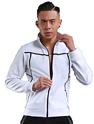 Homme Veste de Course Manches Longues Garder au chaud Respirable Shirt pour Course Fitness Blanc Noir Gris Bleu royal S M L XL XXL