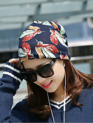 cheap -Women's Casual Cotton Floppy Hat - Leaf, Printing
