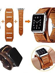 economico -per la vigilanza della mela serie 3 2 1 cinturino in vera pelle braccialetto wristband bracciale intelligente con fascia in metallo