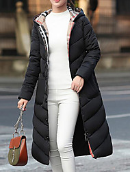 cheap -Women's Padded Coat,Casual Sexy Daily Going out Solid-Polyester Long Sleeves