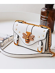 cheap -Women Bags PU Tote Bow(s) Buttons for Casual All Season White Black Brown