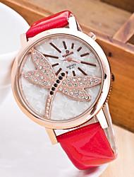 cheap -Women's Wrist Watch Chinese Chronograph Rubber Band Casual / Fashion / Elegant Black / White / Blue / One Year