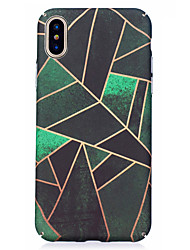 economico -Per iPhone X iPhone 8 Custodie cover Fantasia/disegno Custodia posteriore Custodia Geometrica Resistente PC per Apple iPhone X iPhone 8