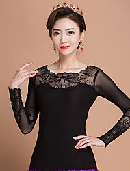 cheap -Ballroom Dance Tops Women's Performance Ice Silk Long Sleeve Tops