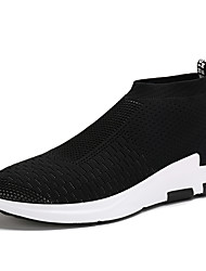 cheap -Running Shoes Men's Athletic Shoes Spring Summer Fall PU Outdoor Casual Athletic Flat Heel Black Gray Red