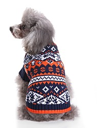 cheap -Cat Dog Sweaters Dog Clothes Casual/Daily Fashion Color Block Color Block Pink Blue Costume For Pets