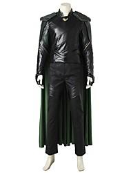abordables -Superhéros Cosplay Costume de Cosplay Costume Cosplay de Film Gris & noir Gilet Haut Pantalon Brassard Gants Manteau Plus d'accessoires