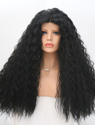 cheap -Women Synthetic Wig Lace Front Long Curly Black Middle Part Natural Wigs Costume Wig