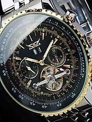 Недорогие -Jaragar Муж. Модные часы / Часы со скелетом / Наручные часы Календарь / Cool Нержавеющая сталь Группа Роскошь / На каждый день / С автоподзаводом
