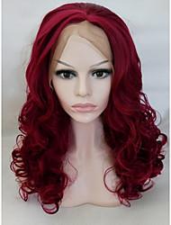 Недорогие -жен. Парики из искусственных волос Лента спереди Средний Длиный Красный Парик из натуральных волос Парики к костюмам