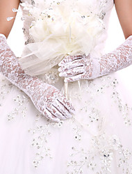 cheap -Lace Opera Length Glove Bridal Gloves Party/ Evening Gloves With Embroidery