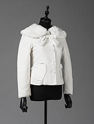cheap -Winter Sweet Lolita Coat Princess Wool Women's Girls' Adults' Coat Cosplay White Long Sleeves