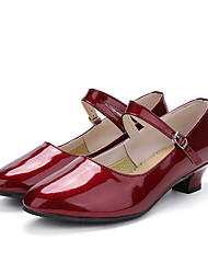 """cheap -Women's Modern Patent Leather Sneaker Performance / Customized Heel Red 1"""" - 1 3/4"""" Customizable"""