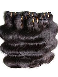Недорогие -Бразильские волосы Естественные кудри Человека ткет Волосы Ткет человеческих волос Черный