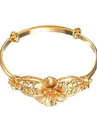 Недорогие -Жен. Браслет цельное кольцо Браслет , Милая Медь Цветы Бижутерия Назначение Свадьба