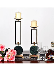 One-Piece Suit Modern Iron Stainless Steel Metal Candelabra Candle Holders