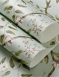 Blomstret Baggrund Til hjem Moderne Vægbeklædning , Ikke vævet tekstil Materiale Lim påkrævet tapet , Værelse Tapet