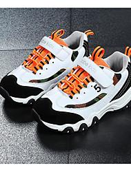 abordables -Garçon Chaussures Cuir Nubuck Automne / Hiver Confort Chaussures d'Athlétisme Course à Pied pour Blanc / Noir