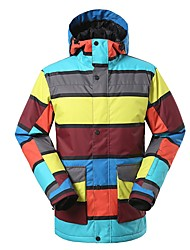 cheap -Men's Ski Jacket Warm Waterproof Windproof Wearable Breathability Skiing Ski / Snowboard Eco-friendly Polyester Silk Cloth