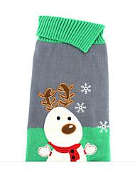 preiswerte -Hund Pullover Hundekleidung Weihnachten Weihnachten Grau Kostüm Für Haustiere