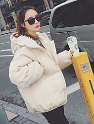 cheap -Women's Long Parka Coat,Sexy Cotton Solid-Wool Long Sleeves