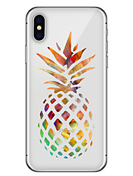 abordables -Funda Para Apple iPhone X iPhone 8 Plus Diseños Funda Trasera Fruta Suave TPU para iPhone X iPhone 8 Plus iPhone 8 iPhone 7 Plus iPhone 7