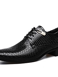 cheap -Men's Shoes PU Spring Fall Formal Shoes Oxfords For Wedding Party & Evening Blue Black