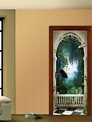 abordables -Paysage Botanique Stickers muraux Autocollants muraux 3D Autocollants muraux décoratifs, Vinyle Décoration d'intérieur Calque Mural Mur