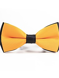 cheap -Men's Polyester Bow Tie,Simple Casual Solid Color All Seasons Yellow
