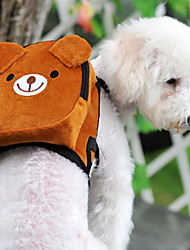 preiswerte -Katze Hund Rucksack Haustiere Träger Mini Walking Tragbar Klappbar flexibel Einfarbig Cartoon Design Niedlich Orange Braun Rot Grün Rosa